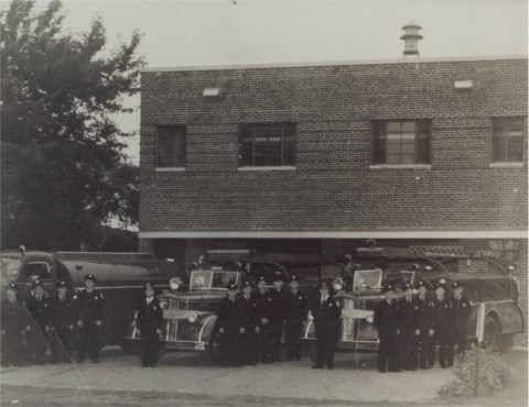 Falcon Heights Fire Department at old station, 1664 Larpenteur